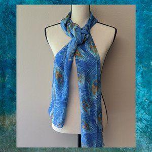 Women Aqua 'PEACOCK' Oblong Wrap Collection XIIX